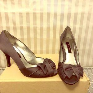 """Nina"" size 8 heels, color Steel Luster"